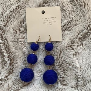 Never worn club Monaco royal blue drop earrings
